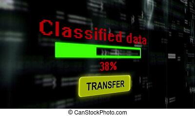 transfert, classifié, données