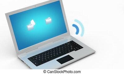 transfert, données, wifi, routeur, conc