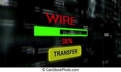 transfert, fil, ligne