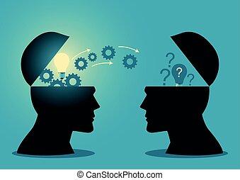 transfert, ou, idées, connaissance
