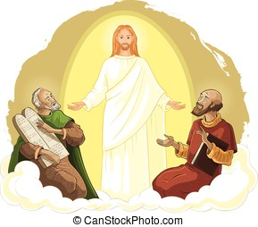 Transfiguration of Jesus Christ with Elijah and Moses -...