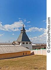 Transfiguration Tower (XVI c.) of Kazan Kremlin, Russia. UNESCO site