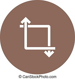 Transform - Picture, transform, video icon vector image. Can...