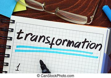 transformación, concepto