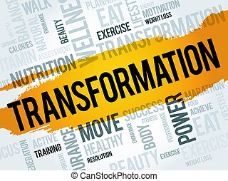 transformación, palabra, nube