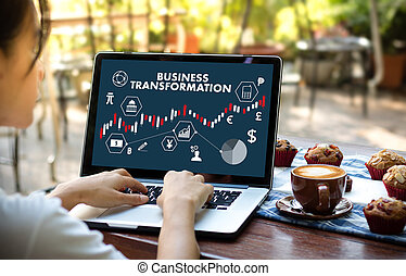 transformacja, o, cześć-tech, techniczny, cyfrowy, handel, ...