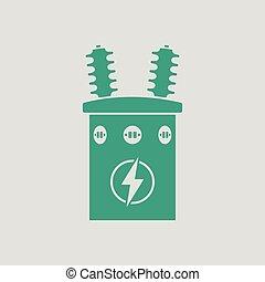 transformador, eléctrico, icono