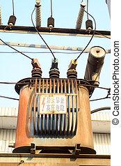 transformateur, alimentation énergie, -, espèce, installations