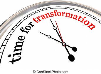 transformation, évolution, horloge, changement, temps, ...