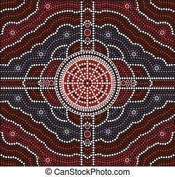 Transformation - A illustration based on aboriginal style of...