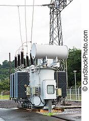 transformator, station