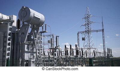 Transformer at power station.