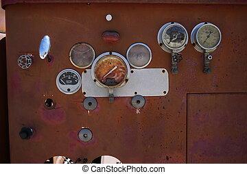 Transformer box. Close up