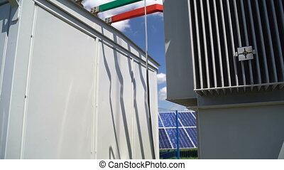 Transformer in a Solar Power Station - New transformer with ...