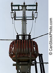 Transformer on high power station