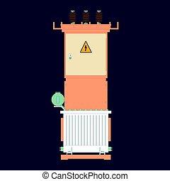 Transformer substation, industrial