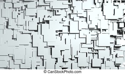 Transforming Cubes wall background. 3D animation