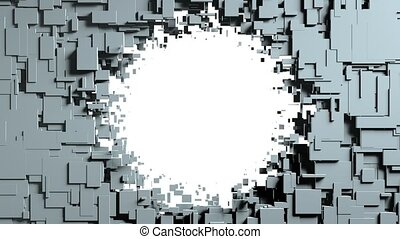 Transforming Cubes wall background. 3D animation -...