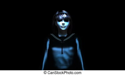 transforming girl - Girl transforming into zombie