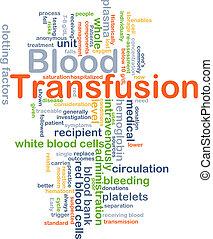 transfusión, concepto, sangre, plano de fondo