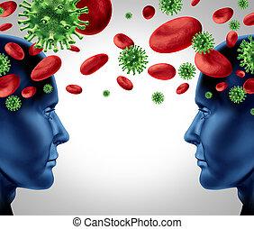transfusión, sangre, enfermedad