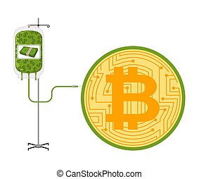 Transfusion of dollars in Bitcoin. BTC price rising....