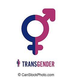 Transgender Icon Symbol. Combining Gender Symbols. Male And...