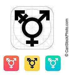 Transgender icon. Vector illustration.