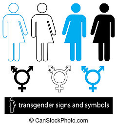 a set of icons and symbols for transgender uses