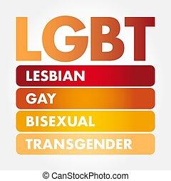 transgender, -, lgbt, lesbische , biseksueel, vrolijk
