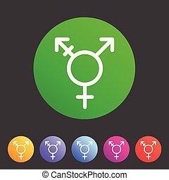 Transgender, lgbt, transsexual icon flat web sign symbol...