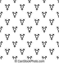 Transgender sign pattern vector - Transgender sign pattern...
