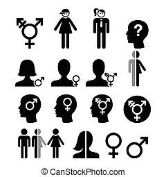 Transgender symbol, gender icons - Transgender people,...
