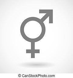 transgender, symbol, ilustracja