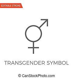 Transgender Symbol Vector Icon - Transgender Symbol Thin...