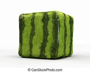 transgenic watermelon isolated on white background -digital ...