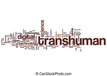 Transhuman word cloud