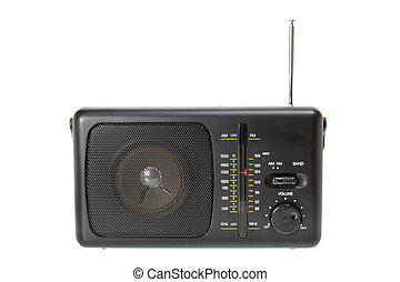 Transistor Radio on White Background