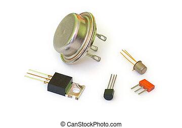 Transistors - A set of transistors of different types