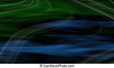 Transit Abstract Loop - Green-Blue