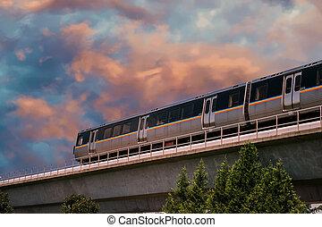 transit rapide, train