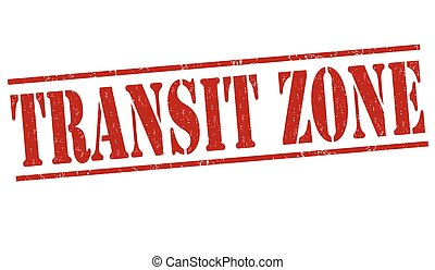 Transit zone stamp - Transit zone grunge rubber stamp on...