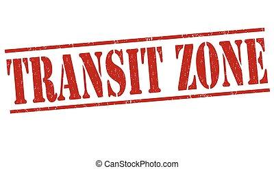 Transit zone grunge rubber stamp on white background, vector illustration