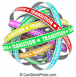Transition Change Process Evolution Words Loops 3d...