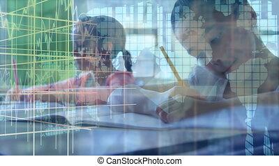 transition, graphique, classe, fonctionnement, finance