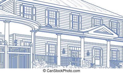 Transition Of Beautiful Custom Home From Drawing to Completion.