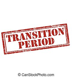 Transition Period-stamp - Grunge rubber stamp with text...