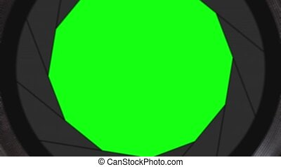 Transition with green screen in the camera lens