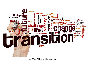 Transition word cloud concept - Transition word cloud