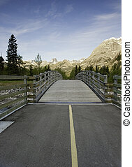 Transitions in the Path - Wooden bridge on a bike trail...